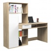 Mẫu bàn học gỗ MDF kèm tủ sách - VH 1